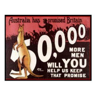 WW1 de PROPAGANDA van AUSTRALIË van de Kaart 1914