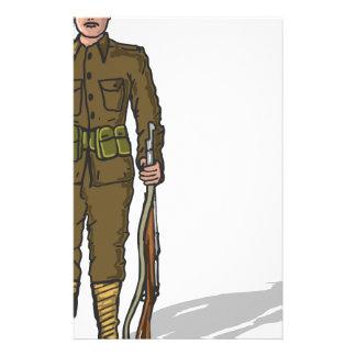 WW1 militair Mariene Schets Briefpapier