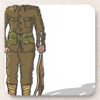 WW1 militair Mariene Schets Onderzetter