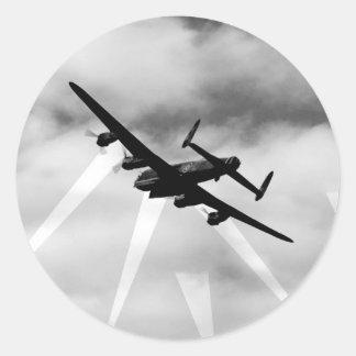 WW2 de Bommenwerper van Avro Lancaster Ronde Sticker