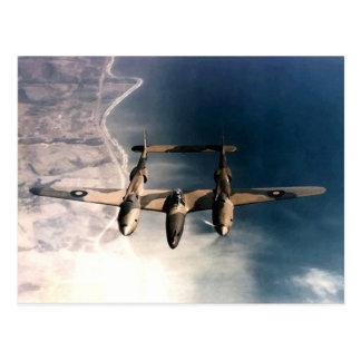 WW2 historisch Vliegtuig In oorlogstijd tijdens de Briefkaart