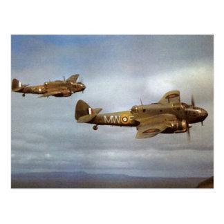 WW2 historische Vliegtuigen tijdens de vlucht Briefkaart