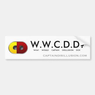WWCDD? De Sticker van de bumper Bumpersticker