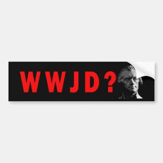 WWJD? De Sticker van de bumper