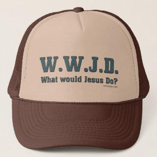 WWJD? Wat zou Jesus doen? Trucker Pet