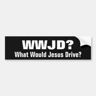 WWJD?  Wat zou Jesus drijven? Bumpersticker