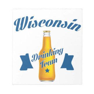 Wyoming die team drink notitieblok