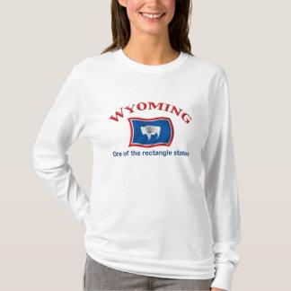 Wyoming - een Staat van de Rechthoek T Shirt