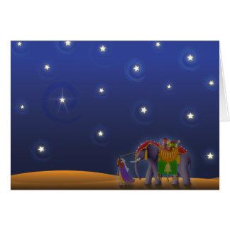 X001 Sterrige Vakantie Nacht Briefkaarten 0