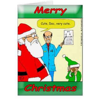 x80 de kerstman gaat naar de oogarts kaart
