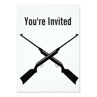 X de het jachtgeweerpartij van het pistolengeweer kaart