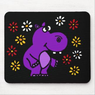 X-Y Paarse Hippo en het Art. van Madeliefjes Muismatten