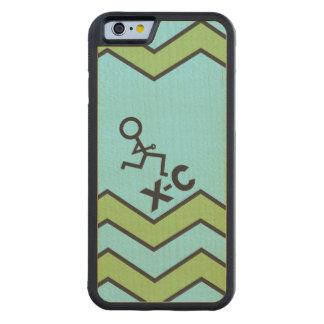 XC het DwarsPatroon van de Chevron van de Agent Esdoorn iPhone 6 Bumper Case