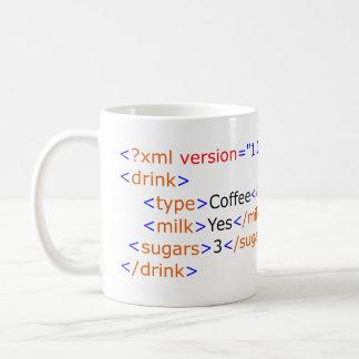 XML die de Mok van de Koffie programmeren