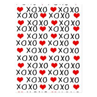 XO het patroon van de Valentijnsdag Briefkaart