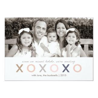 XO XO XO | Recente Kerstkaart Kaart