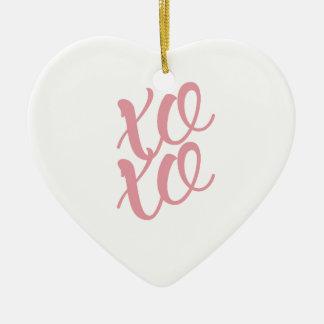 xoxo keramisch hart ornament
