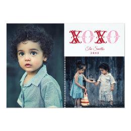 XOXO met de Valentijnsdag van de Foto van Harten Kaart