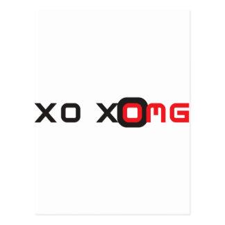 xoxo omg briefkaart