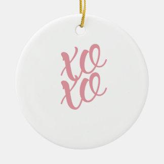 xoxo rond keramisch ornament