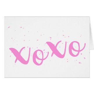 xoxo-roze Trendy Wenskaart