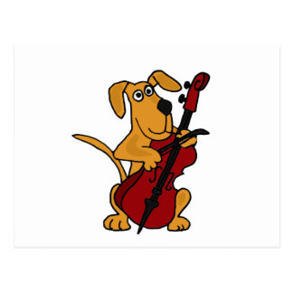 XX de bruine Hond die van het Puppy de Cello Briefkaart