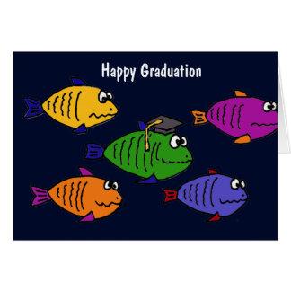 XX de gelukkige School van Afstuderen van Vissen Briefkaarten 0