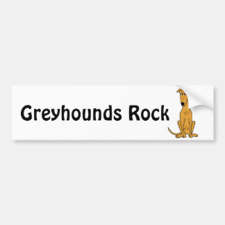XX de grappige Cartoon van de Hond van de Windhond Bumpersticker
