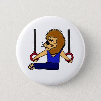 XX de Turner van de leeuw op de Cartoon van Ringen Ronde Button 5,7 Cm