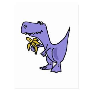 XX Dinosaurus t-Rex die de Cartoon van de Banaan Briefkaart