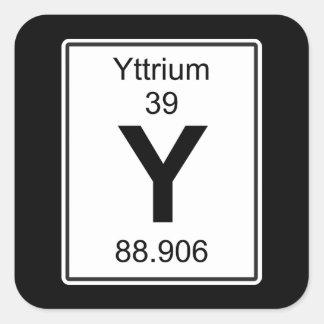 Y - Yttrium Vierkante Sticker