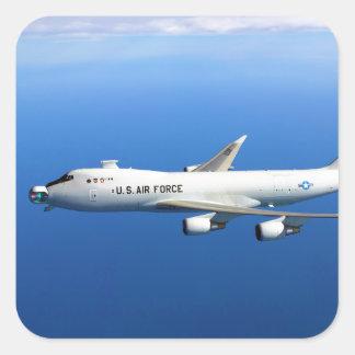 Yal-1A Vliegtuig het in de lucht van de Laser Vierkante Sticker