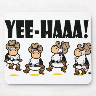 Yee-HAAA! De koeien van Linedancing Muismatten