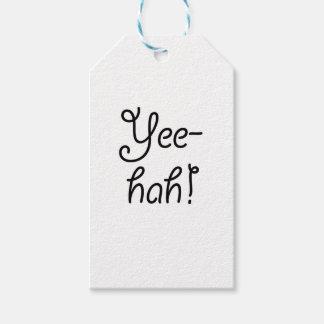 Yee -yee-hah! cadeaulabel