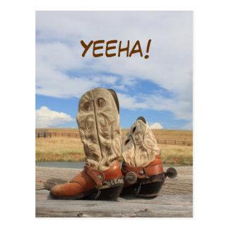 Yeeha! Het westerne Briefkaart van de Laars