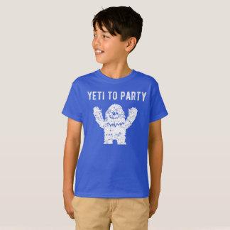 Yeti aan het Overhemd van de Yeti van de Partij T Shirt
