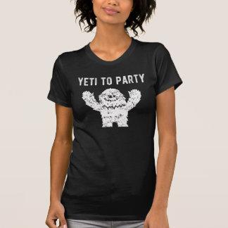 Yeti aan Leuke Trendy Grafisch van de Partij T Shirt