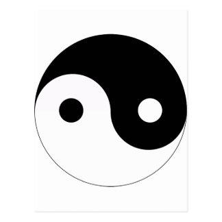 yin en yang taoism van de godsdiensttao van het briefkaart