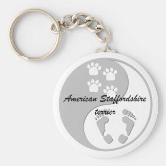 yin yang Amerikaanse staffordshire terriër Sleutelhanger
