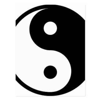 yin yang BasisLijn Briefkaart