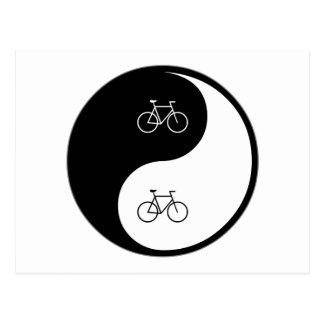Yin Yang Bicycling Briefkaart