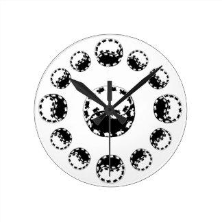 yin yang ezelsklok ronde klok