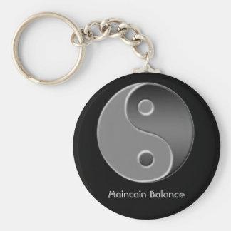 yin-Yang, handhaaft Evenwicht Basic Ronde Button Sleutelhanger