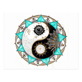 Yin Yang Mandala Briefkaart