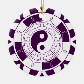 Yin Yang Mandala Rond Keramisch Ornament