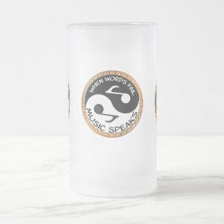 Yin Yang met muziekwoorden Matglas Bierpul