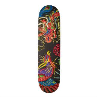 Yin Yang Phoenix en het Dek van het Skateboard van