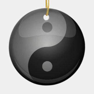 Yin yang rond keramisch ornament