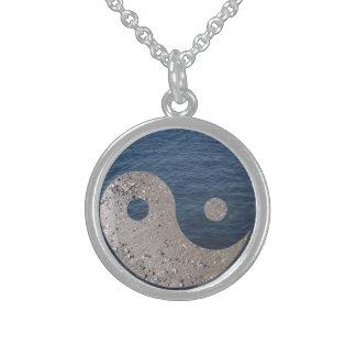 Yin Yang (Zand en Water) Sterling Zilveren Ketting