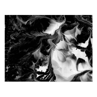 YIN & YANG (zwarte & witte abstracte kunst) ~. Briefkaart
